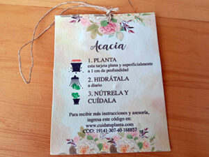 Etiquetas plantables y germinables
